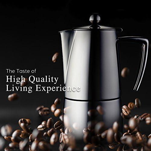 Minos cafetera italiana Espresso Maker – Cafetera 4 Tazas6 cups