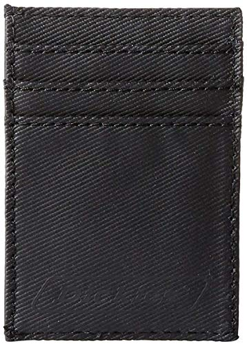 Dickies  Men's  Card Carrier Front Pocket  Wallet with Money Clip,Black