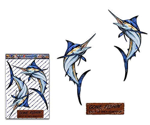MARLIN X Large Pack Fishing Fish Sport Decal Car Stickers for Boats Jetski Truck Caravan - ST00013_4 - JAS Stickers ()