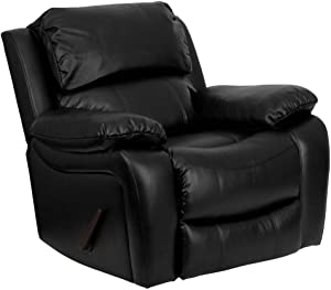 Flash Furniture Black Leather Rocker Recliner chair