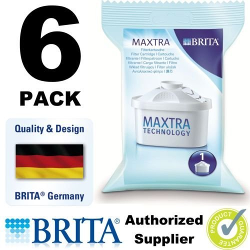Brita Maxtra Thin out Filter Jug Refills Genuine Replacement Cartridges - Pack of 6