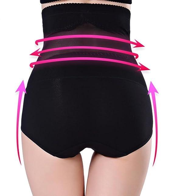 exzzh de mujer Body Shaper Cintura Alta ropa interior sin costuras postparto Tummy Control Panty Slim Butt Lifter, negro, Large: Amazon.es: Deportes y aire ...