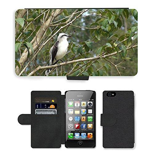 Just Phone Cases PU Leather Flip Custodia Protettiva Case Cover per // M00128559 Oiseau Arbre Nature vol // Apple iPhone 4 4S 4G