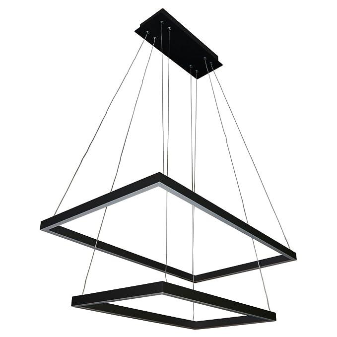 Vonn Vmc31710bl Atria Duo 29 Adjustable Suspension Fixture Modern Twotier Chandelier Lighting In Black Integrated Led 2925 L X 1725 W 120 6 H: Kitchen Ceiling Light Wiring Diagram At Ultimateadsites.com