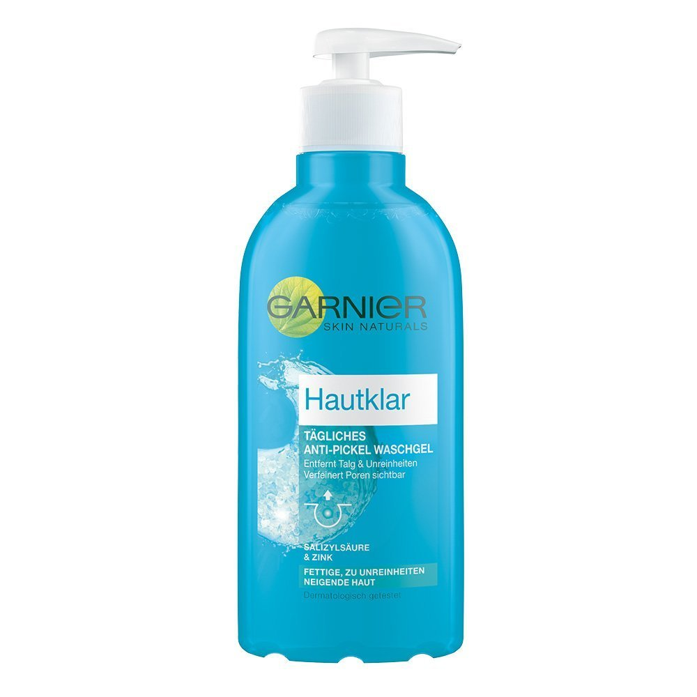 Garnier Hautklar Tägliches Anti-Pickel Waschgel, mit Zink und Salizylsäure, tiefenreinigend, porenverfeinernd, talgreduzierend, 200 ml C14064