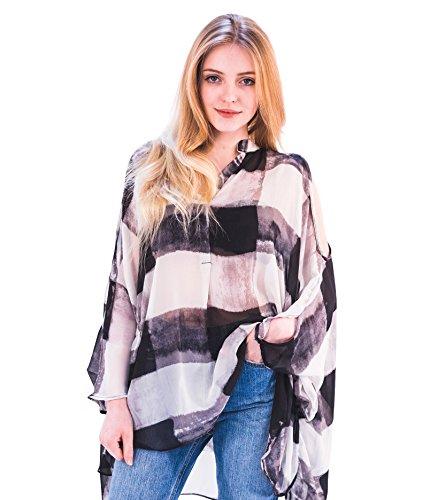 Camisa de mujer, bonito hombro, manga larga, con forro en el chaleco superior Estilo 1