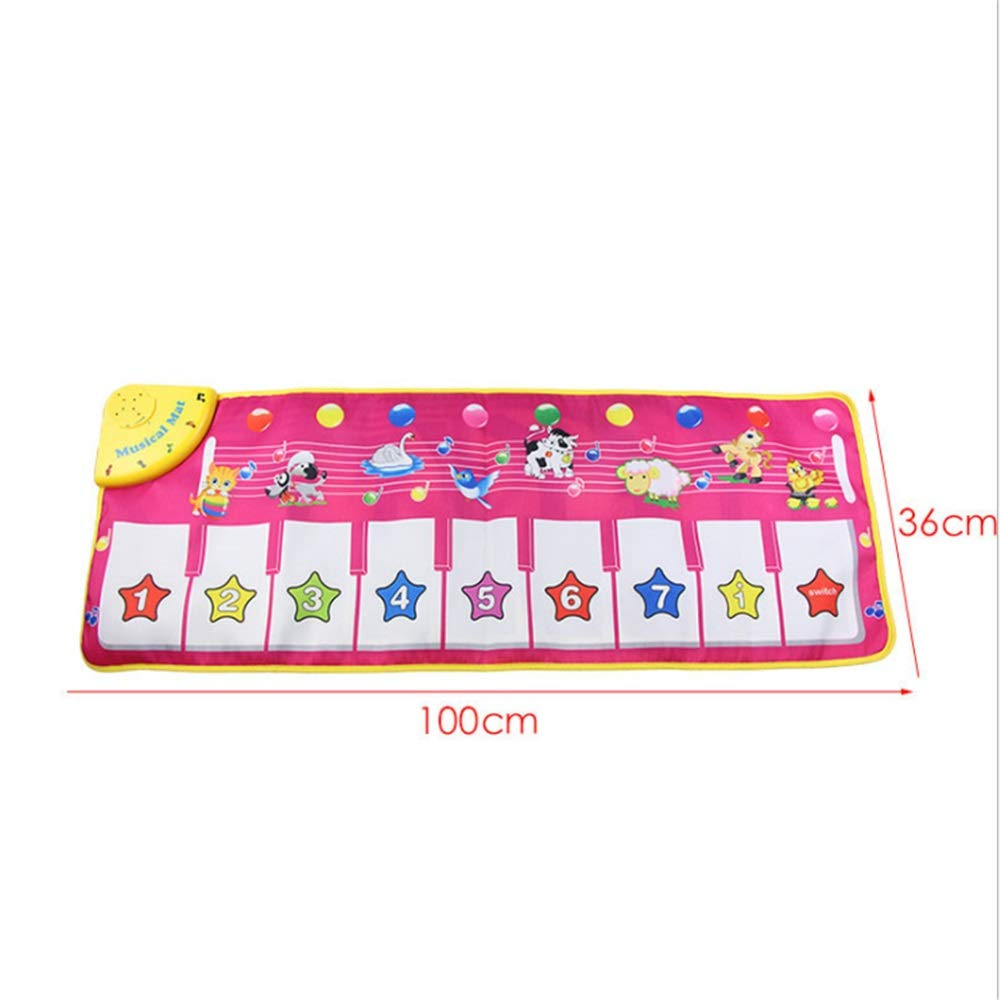 Play Keyboard Mat Animals Girls Electronic Musical Keyboard Playmat 43 Inches 9 Keys Foldable Floor Keyboard Piano Dancing Activity Mat Step And Play Instrument Toys For Toddlers Kids Children's Gift by GAOCAN-gq (Image #3)