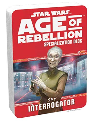 Age of Rebellion Spy Interrogator Specialization Deck FFG Star Wars RPG