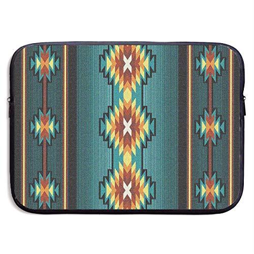 Native Southwest Geometric Turquoise Computer Bag Laptop Case Sleeve Bag Waterproof 13-15 Inch For IPad Notebook MacBook -