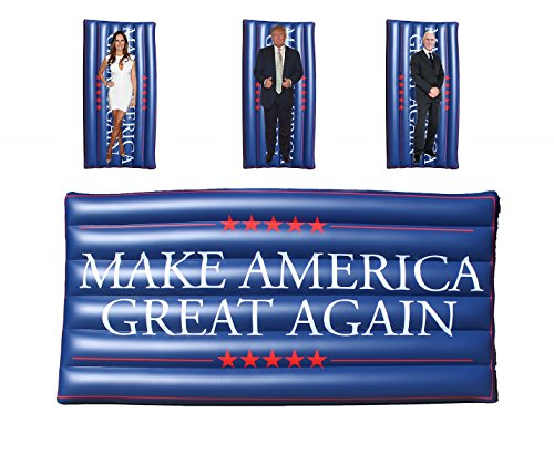 TheGag Make America Great Again Pool Float Flag Donald Trump Patriotic Supporters Swimming Pool Large Jumbo Lounger Raft Memorial Day 4th of July Summer 72 Inches - Flag Inflatable Float