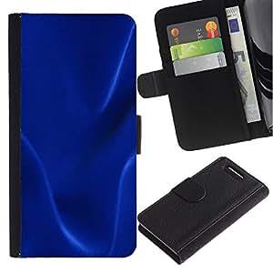 JackGot ( Blu scuro trama ) Sony Xperia Z3 Compact / Z3 Mini (Not Z3) la tarjeta de Crédito Slots PU Funda de cuero Monedero caso cubierta de piel