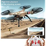 K&A Company Syma X8HW 2.4G 4CH WIFI FPV Gyro RC Quadcopter New 500 mm x 500 mm x 190 mm Gold