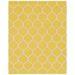 Unique Loom 3125982 Modern Geometric 8 Feet (8' x 10') Trellis Contemporary Area Rug, 8 x 10, Yellow