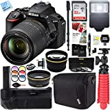 Beach Camera Nikon D5600 24.2 MP DX-Format DSLR Camera with AF-S 18-140mm ED VR Lens Kit + 32GB Battery Grip Accessory Bundle
