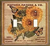 Double Light Switchplate Cover - Sunflower Seed Package