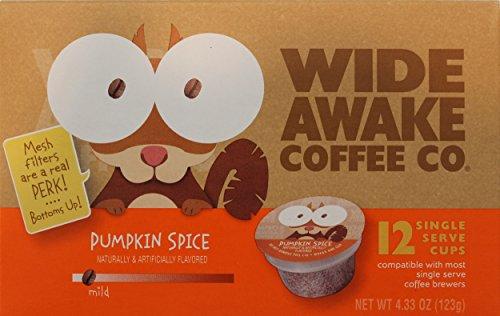 Wide Awake Coffee Co. Pumpkin Spice 12 Single Serve Cups 12 Count - Pumpkin Pod