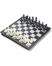 Chess Set, CHengQiSM Folding Magnetic Travel Chess Sets Portable Game Board -Professional Chess12.5 Inches for Kids Adult Man Women Teens Toy Gift - Learning and Education Toys Gift