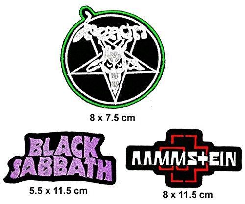 Rock Heavy Music_Set Venom Black Sabbath Music Metal Punk rock patch Iron on Logo Vest Jacket cap Hoodie Backpack Patch Iron On/sew on patch - Venom Costume Diy