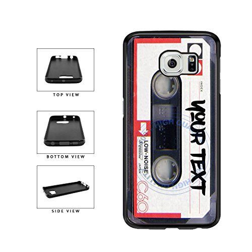 BleuReign(TM) Personalized Custom Name Mixtape Cassette TPU RUBBER SILICONE Phone Case Back Cover For Samsung Galaxy S7 - Cassette 4s Tape Case Iphone