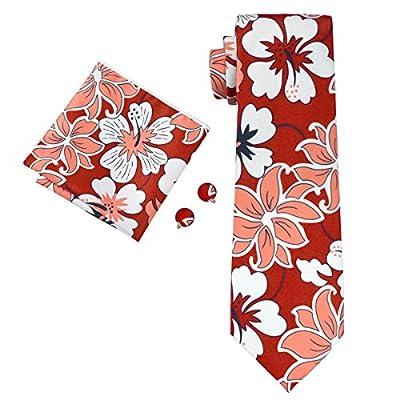 Hi-Tie Designer Floral Necktie Set for Holiday