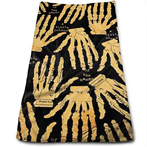 redhearty Halloween Golden Hands Bones Microfiber Lightweight Soft Fast Drying for Gym Beach Travel Fitness Exercise Yoga ()