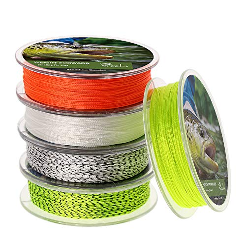 - Fly Line Backing 20LB 30LB 100 Yds for Trout Fishing - White Black, Set of 2