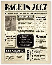 Paintio Back in 1920-2020 - Póster sin marco de 20 x 10 – Regalos de cumpleaños para mujeres y hombres – Decor