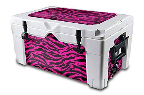 USATuff Igloo Wrap (Cooler Not Included) - Fits Igloo 40QT Sportsman - Toughest & Thickest 24mil Cooler Skin - Lid & Insert - Zebra Girl Pink