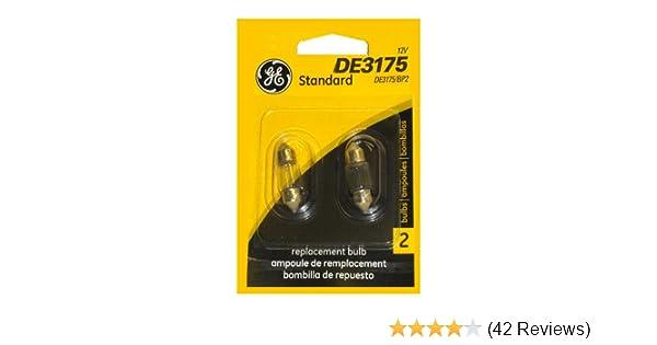 Amazon.com: GE Lighting DE3175/BP2 Automotive Dome, Courtesy Light Miniature Bulb (12354) 2 Lamps per Blister: Automotive