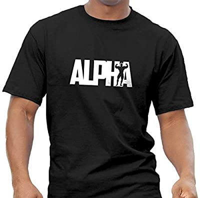 Quality Men's 'Alpha' T-shirt. Weightlifting Bodybuilding Gym Workout