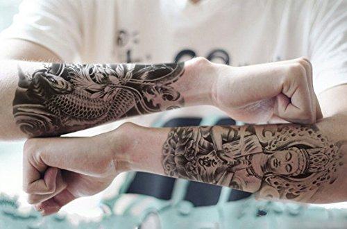 2d76610ca 5 Sheets Fashion Temporary Tattoos Body Art Arm Stockings Accessories  Design - Skeleton, Carp,