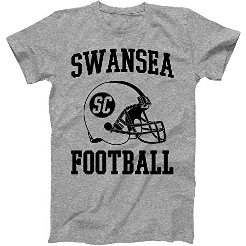 Swansea City Football - Vintage Football City Swansea Shirt for State South Carolina with SC on Retro Helmet Style Grey Size XXX-Large