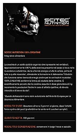 Scitec Nutrition 100% Creatina Monohidrato 100 gr: Amazon.es: Salud y cuidado personal