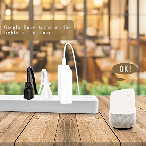 LINGANZH Smart Wi-Fi Power Strip Surge Protector Extension Socket, Individually Control Timing Function with iOS Android Smartphone Tablet, with Amazon Alexa and Google Home (White) by LINGANZH (Image #6)