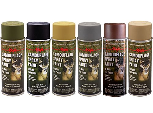 Majic Paints 8-206856-8 Camouflage Assortment Spray Paint Kit, 12-Ounce, 6-Pack