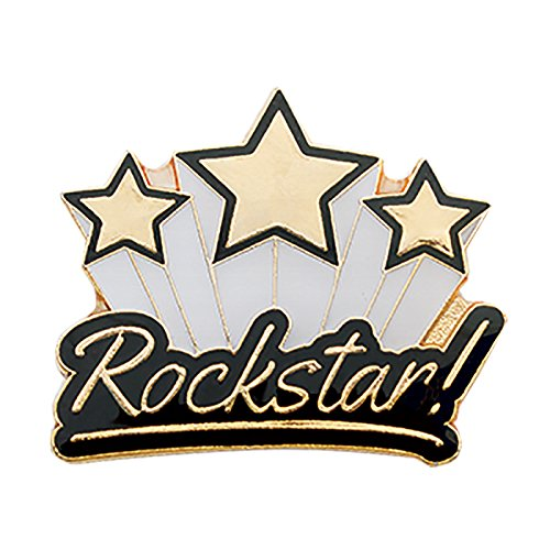Set of 50 Lapel Pins - Rockstar (School Pins Award)