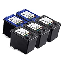 NUINKO 5 Pack Remanufactured HP 56 HP 22 Ink Cartridge Black and Color C6656AN C9352AN for HP OfficeJet 5610 5600 5610xi 5610v 5605 Printers