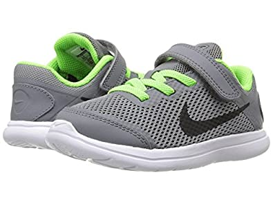 Nike Kids Flex 2016 RN Infant/Toddler Cool Grey/White/Electric Green/