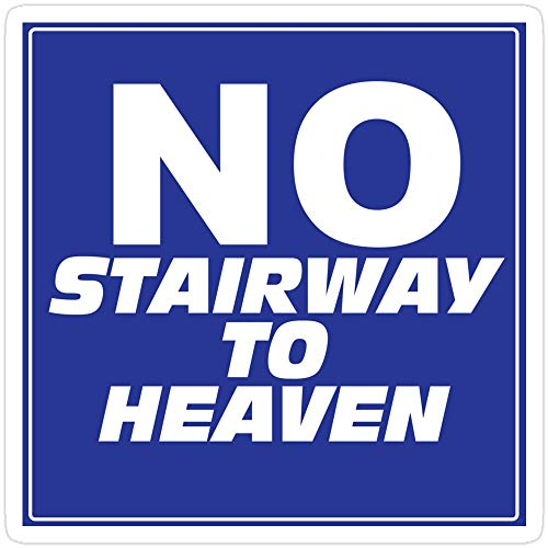 rangerpolocon Wayne's World No Stairway to Heaven Sign Stickers (3 Pcs/Pack) 1539113731814