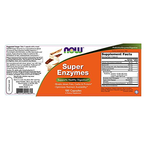 NOW Super Enzymes,180 Capsules by NOW Foods (Image #1)