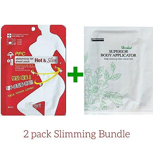 Ensemble de 2 corps minceur enveloppement applicateur + Patch brûle graisse - mieux pour la Cellulite, les vergetures, poids et pouce perte - Advance formule à base de plantes pour les femmes et les hommes - voir comment cela fonctionne !