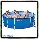 Pool Swimming Metal Frame Round 15' X 48'' Above Set w/ Filter Intex Pump Filter Pools Swim Discount Patio Family Backyard Summer Fun Wall Walled Safety New Guarantee with Its Only Ebook