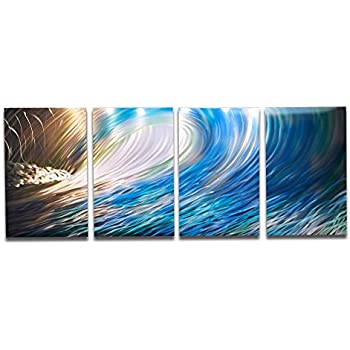 Metal Wall Art, Modern Home Decor, Abstract Artwork Sculpture- Wave by Miles Shay