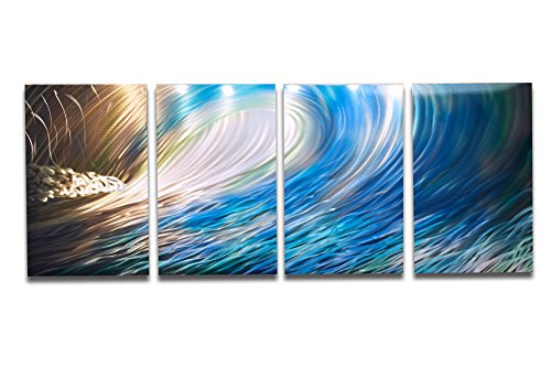 Miles Shay Wave by Metal Wall Art, Modern Home Decor, Abstract Artwork Sculpture -