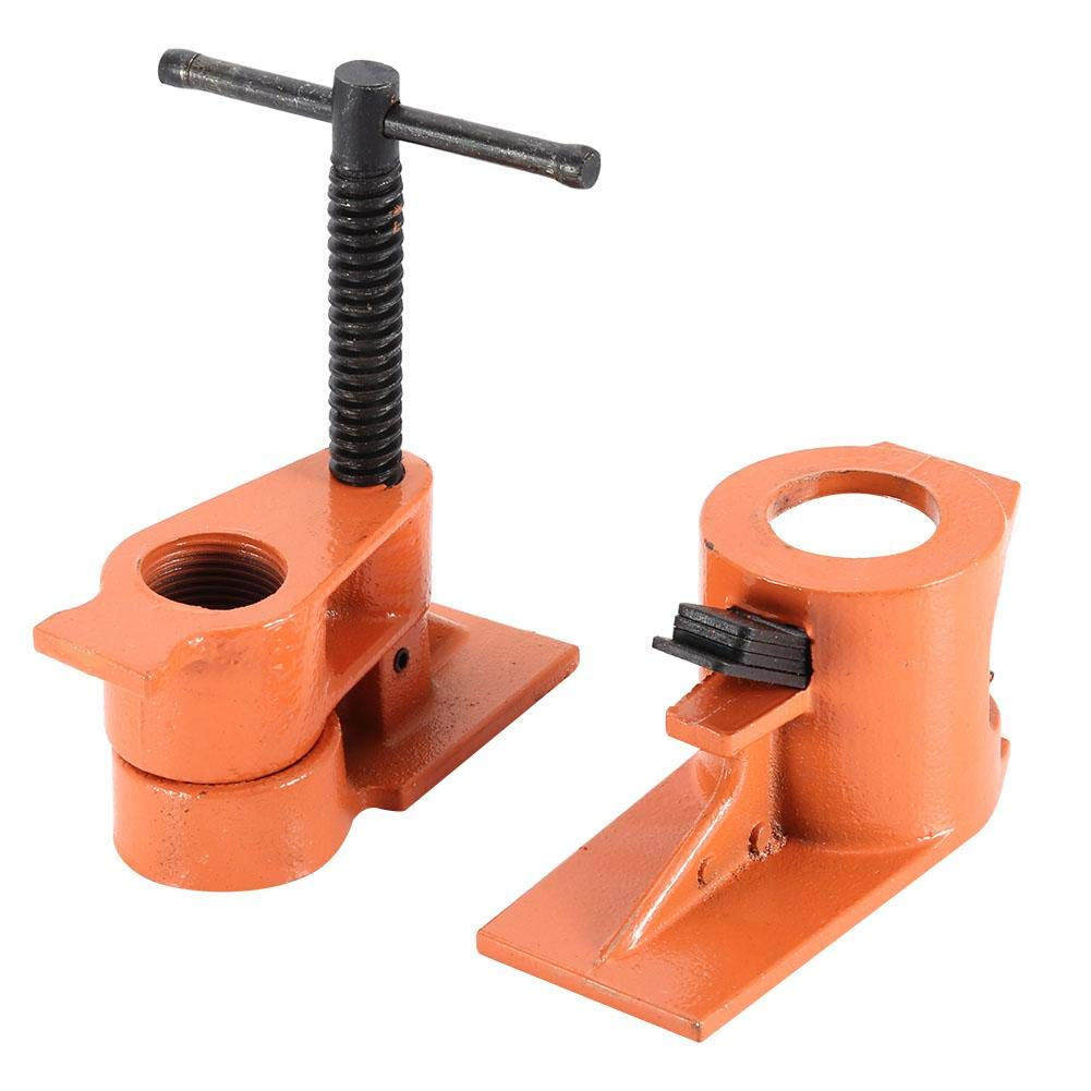 Heavy Duty 1 inch Pipe Clamp Jaws Vise Fixture Set Woodworking Tool Kit Water Pipe Clamp by Wal front