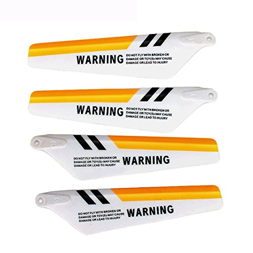 2 Set (8 pcs)Main Blade for SYMA S107 S111G S108G S109G S105G S107C RC Helicopter Spare Parts(Yellow)