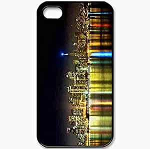 Protective Case Back Cover For iPhone 4 4S Case San Francisco California San Francisco California Night Building Black