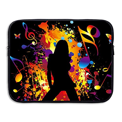 Fonsisi Laptop Storage Bag Music Note Girl Dance Portable Waterproof Laptop Case Briefcase Sleeve Bags Cover
