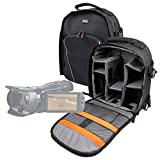 DURAGADGET Professional Camcorder Rucksack / Backpack with Adaptable Interior for Canon Vixia HF G20 / G10 / LEGRIA HF G25