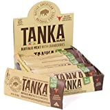 Gluten Free Meat Bar made with Buffalo and Cranberries, Beef Jerky Alternative, Slow Smoked Original by Tanka, 1oz bar, Pack of 12